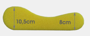 Núcleo de almohada cervical diseño Viscoform - Ergonomik