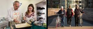 cocinando y en bici