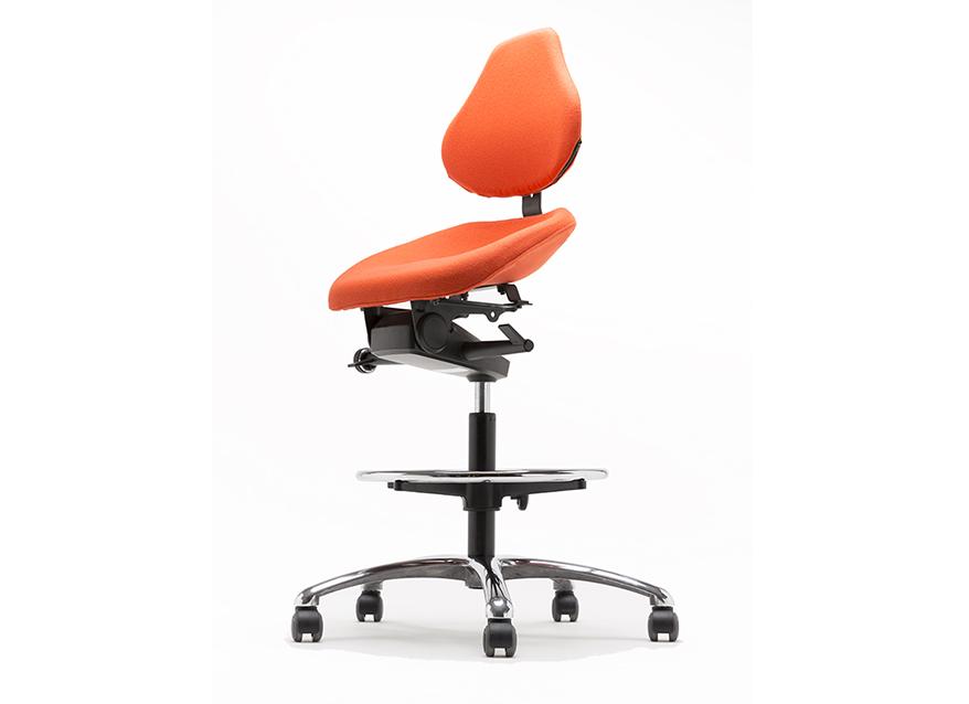 Silla ergon mica alta para postura semisentado swing rtl for Sillas cajeras ergonomicas