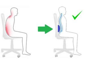 Coj n para dolor lumbar autom vil o silla de oficina for Cojin lumbar silla oficina